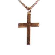 Vintage FAR EAST 18K Gold Religious Cross - Plain with No Engraving!