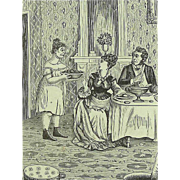 VICTORIAN HUMOR Card - How BIddy Served the Tomatoes Undressed!