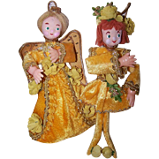 Pr C.1960 MADE IN JAPAN Christmas Decorations - My Lord and Lady Gold!