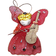 Vintage MADE IN JAPAN Spun Cotton, Gauze & Chenille Angel Ornament for Christmas!
