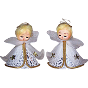 Pr C.1960 MADE IN JAPAN Christmas Ornaments - Angels with Gold Hair!