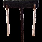 Vintage Italian STERLING SILVER Earrings by Milor - Fringe Drops
