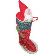 C.1920 MADE IN JAPAN Candy Container - Santa Claus in a Boot