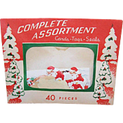 C.1960 UNOPENED Christmas Package of 40 Cards - Tags - Seals