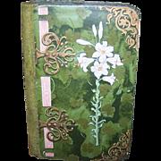 ART NOUVEAU Latch Box - Easter, Lily, Green, Velvet, Paper