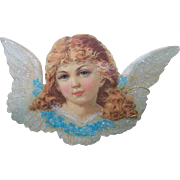 The Old Print Factory - Vintage, Die Cut, Card, Angel, With Glitter