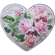THE WINSLOW Papers - Pink, Heart, Roses, Loving Greeting, Card, Ornament