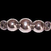 Vintage TAXCO 980 Silver Pin - Retro Modern Design