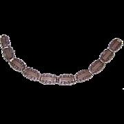 Vintage STERLING SILVER Bracelet - Forget Me Not, World War II, Sweetheart