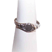 Vintage STERLING SILVER Ring - Uncas, Baby Ring, Hearts