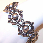 Vintage STERLING SILVER Link Bracelet by Maricela, Taxco, Mexico!