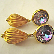 Dazzling Rhinestone Clip Dangle Earrings
