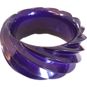 Huge West German Plastic Purple Swirl Bangle