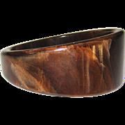 Asymmetrical Marbled Vintage Bakelite Bangle