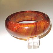 Bright Tortoise Transparent Bakelite Bangle Bracelet