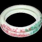 Peking Glass Sewing Basket Bangle Bracelets
