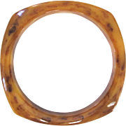 Rounded Square Bakelite Bangle in Mississippi Mud Marble