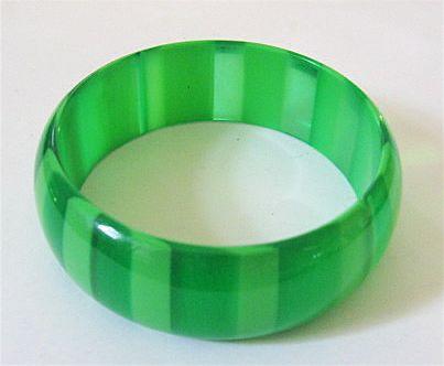 1960s Green on Green Lucite Bangle Bracelet