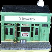 Vintage Miniature Masterpieces Irish Pub Metal Music Box Plays Danny Boy