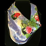 Vintage silk scarf with a Monet design