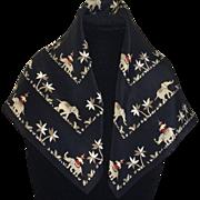Vintage Elegant Elephant Silk Scarf