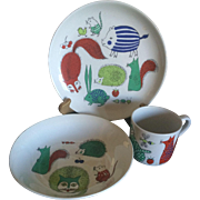 Vintage Arabia of Finland animals childrens dish set