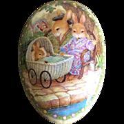 Vintage Susan Wheeler design paper mache Easter egg Germany