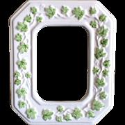 Vintage ceramic picture frame ivy vines