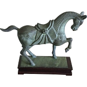 Vintage cast bronze horse sculpture