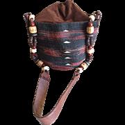 Vintage Boho woven sisal handbag made in Kenya