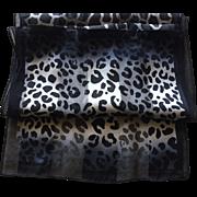 Vintage Silk Animal Print Scarf
