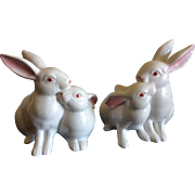 Vintage Fitz and Floyd handpainted bunny candle stick holders