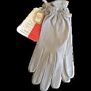 Vintage gray Christian Dior kid gloves