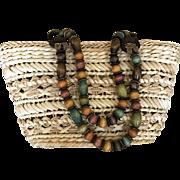 Vintage straw handbag by Cappillini