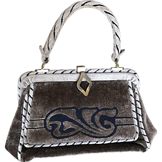 Vintage 1950 Coblentz fabric handbag made in Italy
