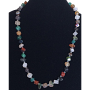 Vintage semi precious stone necklace