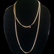 Vintage Monet Flapper length goldtone chain necklace