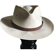 Vintage London Fog straw blocked Panama hat