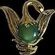 Vintage Jelly belly Swan pin brooch