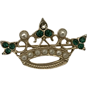 Vintage crown brooch pin