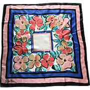 Colossal Bold Flowers Oleg Cassini Silk Scarf