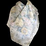 Vintage palest pastel silk flowered scarf bit Liz Clairborne