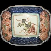 Vintage Japanese Imari rectangular dish
