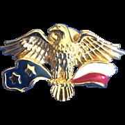 Vintage Avon patriotic eagle pin