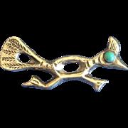 Vintage Native American roadrunner pin