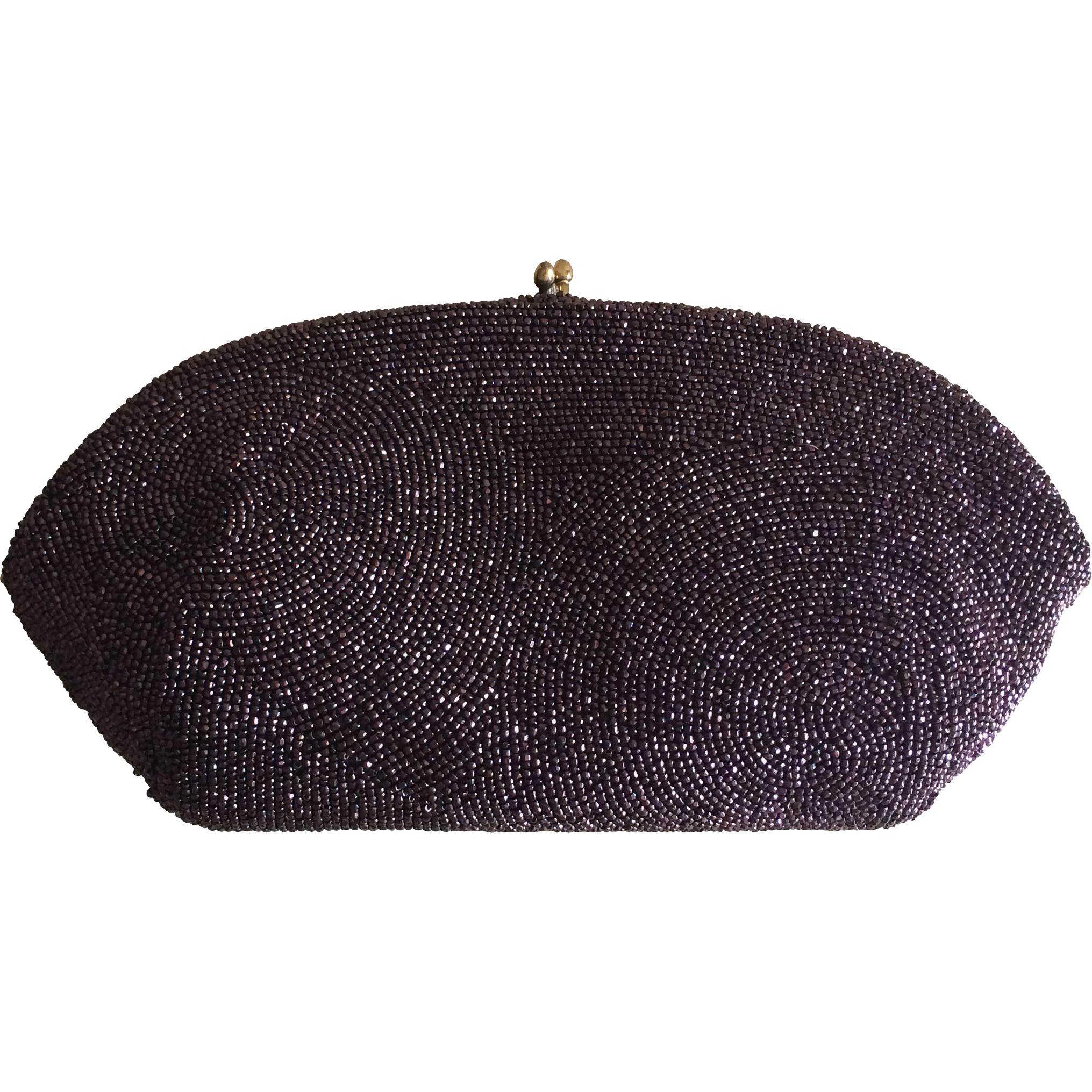 Vintage Cut Crystal Beaded Clutch Made in Belgium