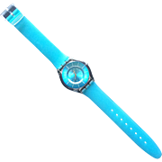 Vintage Turquoise Swatch Watch with a Jelly Band