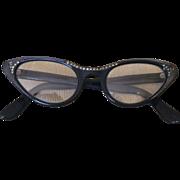 Vintage Beaded French Cat Eye Eyeglasses