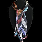 Vintage Elaine Gold long silk scarf