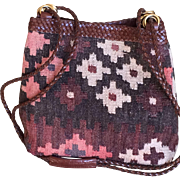 Vintage Kilim Hobo Bag woven Carpet by L.J. Simone New York
